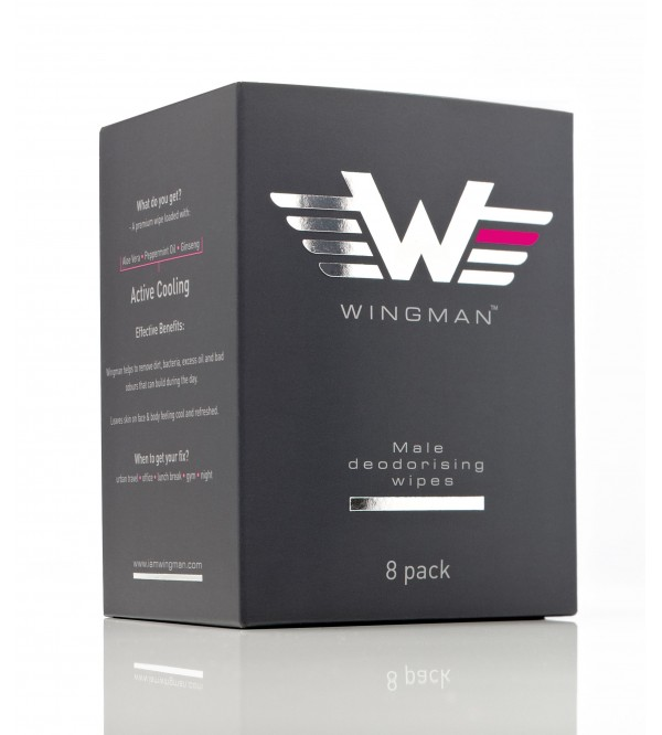Wingman Deodorising Wipes (8 Pack)
