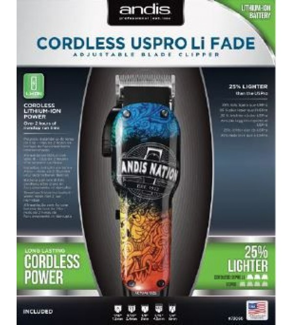 Andis Cordless USPro Li Andis Nation Fade Adjustable Blade Clipper
