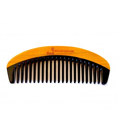 BEARD HOUSE - Green Sandalwood & Buffalo Horn Comb - Medium to Thick