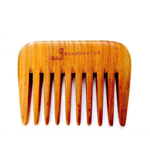 BEARD HOUSE - Green Sandalwood Comb - Thick