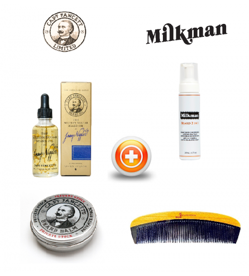 CAPTAIN FAWCETT (MILLON DOLLAR) & MILKMAN BEARD CARE GIFT SET