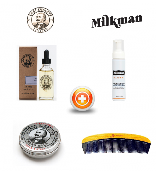 Captain Fawcett (CF.332 Private Stock) & Milkman Beard Care Gift Set