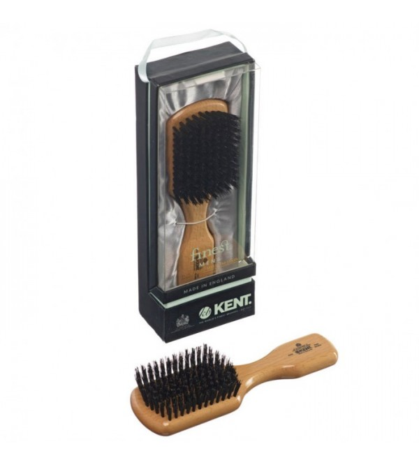 Kent Rectangular Club Beech Wood, Pure Black Bristle - OG2